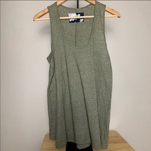 Anthropologie Pure + Good Olive flowy Tank Top | M